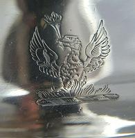 18th Century Luke Proctor Solid Silver Eagle Crested Oval Chamberstick (5 of 12)