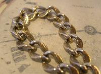 Antique German Pocket Watch Chain 1920s Ornate Silver Nickel Fancy Albert (5 of 11)