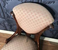 Victorian Burr Walnut & Inlaid Salon Suite (26 of 38)
