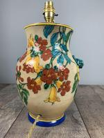 Victorian English Floral Vase Table Lamp, Rewired & Pat Tested (14 of 15)