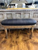 Antique French Carved Giltwood & Gesso Window Seat Bench (13 of 13)