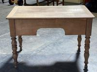 French Bleached Oak Writing Desk (19 of 21)