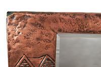 Unusual Arts & Crafts Rectangular Copper Mirror (2 of 7)