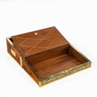 Superb William IV Brass Inlaid Kingwood Writing Box by Edwards (6 of 17)