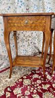 Pair of French Parquetry / Marquetry Side Tables (3 of 20)