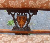 1920s Elegant 3 Seater Mahogany Sofa with Inlay Detailing (4 of 4)