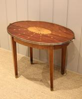 Low Inlaid Oval Table (3 of 9)