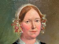 Fine Large Period 19th Century half-length Oil Portrait Painting of a Victorian Lady (5 of 12)