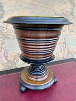 19th Century Fruitwood & Ebony Peat Bucket (2 of 6)