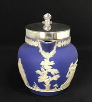 Victorian Blue and White With Silver Plated Lid Jug by Adams (5 of 6)