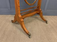 Edwardian Oval Inlaid Satinwood Mirror (8 of 13)