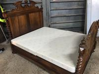 19th Century French Walnut Chateau Bed (5 of 6)