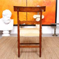 Armchair Fruitwood Desk Library Chair 19th Century Victorian Carved (6 of 11)
