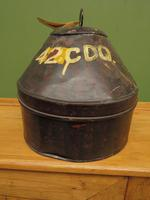 Antique Military Hat Tin Trunk, Lieutenant P Montgomery, A Quirky Bread Bin? (5 of 12)