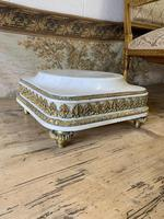 19th Century French White Marble Stand with Ormolu Decoration (3 of 8)