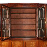 Georgian Mahogany Breakfront Bookcase (6 of 6)