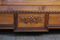 Impressive and beautiful large king size carved walnut bed & matching bedsides (5 of 13)