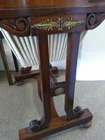 Victorian Mahogany Green Leather Lady's Workstation, Sewing & Writing Desk (10 of 10)