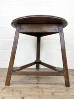 Traditional Style Oak Cricket Table (10 of 10)