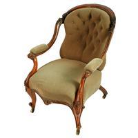 Victorian Rosewood Gent's Armchair (3 of 8)