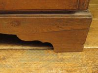 Antique Country Oak Chest of Drawers, 18th Century Chest in 2 Parts (10 of 17)