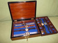 Unisex Inlaid Figured Walnut Jewellery Box + Tray c.1875