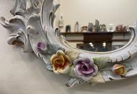 Beautiful Large Sherholtz, Dresden Porcelain Mirror (5 of 5)