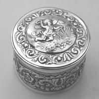 Stunning Antique Britannia Standard Solid Silver Box c.1880