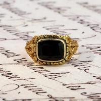 The Antique Georgian 1824 Rectangular Garnet Ring (2 of 5)