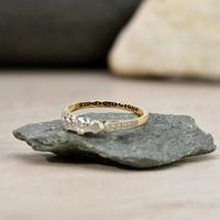 The Vintage Early 20th Century Three Diamond Ring (2 of 6)