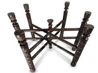 North African Folding Brass Tray Table (7 of 9)