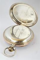 Antique silver Omega pocket watch. (4 of 5)