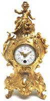 Antique 8 Day Ormolu Mantel Clock Set Cherubs At Play 8 Day Mantle Clock (6 of 11)