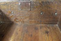 18th Century Antique English Georgian Oak Pad Foot Dresser & Rack (8 of 9)