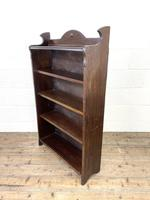 Early 20th Century Antique Oak Bookcase with Four Shelves (6 of 10)
