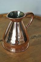 Antique Copper Pint Haystack Measure Castellated Seam Later GR Duty Mark (9 of 11)