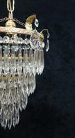 Art Deco Italian Four Tier Crystal Glass Chandelier (4 of 6)