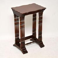 Antique Mahogany Nest of Four Tables (5 of 12)
