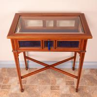 Fine Quality Edwardian Inlaid Mahogany Bijouterie Display Table (3 of 18)