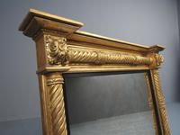 Regency Carved and Gilded Rectangular Overmantel Mirror (3 of 8)