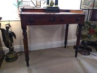 Victorian Mahogany Galleried Writing Table (2 of 6)