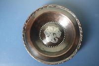 Arts & Crafts, Hugh Wallis Hammered Copper & Pewter Floral Inlay Dish c.1912. (17 of 22)