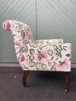 Antique English Upholstered Armchair (4 of 7)