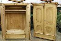 Fabulous & Large Old Pine Double 'Knock Down' Wardrobe - We Deliver!