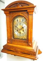 Westminster Chime Bracket Clock Art Nouveau 8-Day Musical Mantel Clock on Bracket c.1900 (8 of 9)