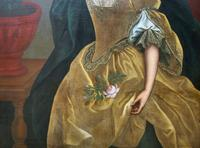 Huge Early 18th Century French Oil Portrait Painting of 'Lucy Webb, Heiress of Ashwick' (7 of 17)