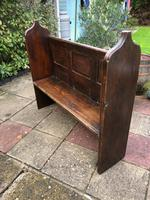 Antique Victorian Church Pew Bench Solid Oak (7 of 8)