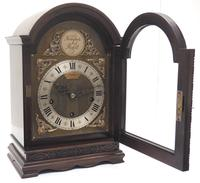 Superb Mahogany Arch Top Mantel Clock Westminster Musical Bracket Clock by Dent London (7 of 10)