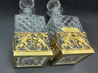 Pair of French Ormolu Cut Crystal Decanters Whisky & Cognac (4 of 8)