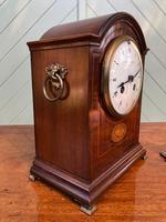 Antique Inlaid Mahogany Bracket Clock (4 of 9)